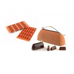 MOLDE SILICONA CHOCOGIANDUIA 50x18x23,5mm -14ml - 300x175mm