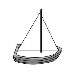 M. PVC BARCO BOTE VELA SP (3P)145x80x160mm