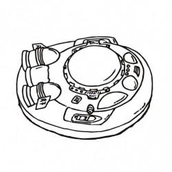 M. PVC NAVE ESPACIAL SP (3P) 140x140x70mm