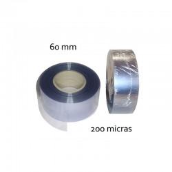 CINTA PVC INCOLORO 60 mm 200 micras (100mt)
