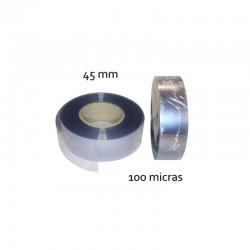 CINTA PVC INCOLORO 45 mm 100 micras (100mt)