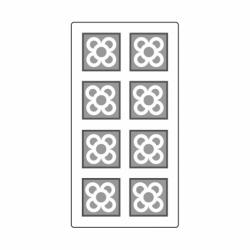 MOLDE PVC TABLETA AZULEJO BCN 40x40x5mm (8c)