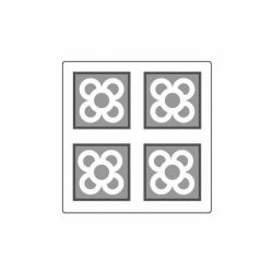 MOLDE PVC TABLETA AZULEJO BCN 60x60x6mm (4c)