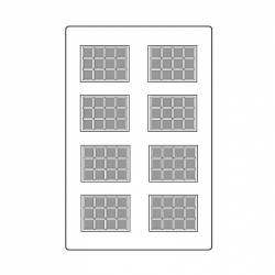 MOLDE PVC TABLETA ARPO183 35x25x5mm (8i)