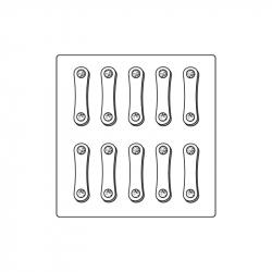 M. PVC LENGUA DE GATO 63x17x5 (i)