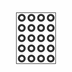 TAPETE FF4301 FORMASIL 20 TART.REDONDAS 48/36x16mm