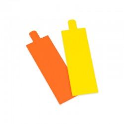 LENGÜETA RECTANGULAR 13x4,5cm NAR./AM. (200 UDS.)