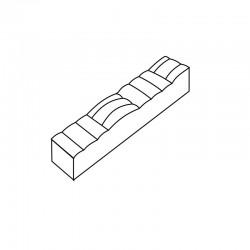 MOLDE PVC TURRÓN TU516 200x40x20mm (2ud)
