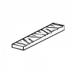 MOLDE PVC TURRÓN TU497 200x40x20mm (2ud)