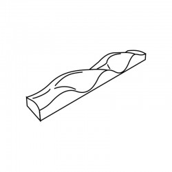 MOLDE PVC TURRÓN TU500 200x40x20mm (2ud)