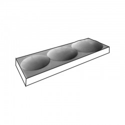 MOLDE PVC TURRÓN TU485 240x80x20mm