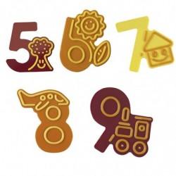 MOLDE NÚMEROS GRANDES 5-9 CHOCOFUNNY