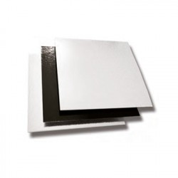 CARTÓN CUADRADO 16x16 cm BLANCO/NEGRO Pack (50ud)