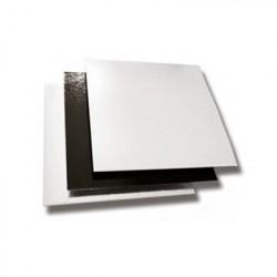 CARTÓN CUADRADO 18x18 cm BLANCO/NEGRO Pack (50ud)