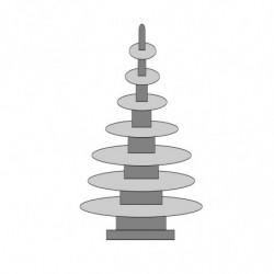 M. PVC ABETO DISCOS 100X240X120mm (1i) (3m)