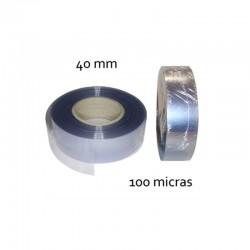 CINTA PVC INCOLORO 40 mm 100 micras (100mt)