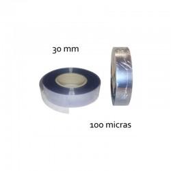 CINTA PVC INCOLORO 30 mm 100 micras (100mt)