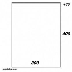 BOLSA PP 300x400 C/SOLAPA ADHESIVA G160 (100u)