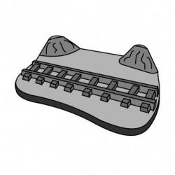 M. PVC BASE RAIL TREN 175X130X32mm
