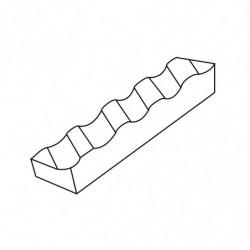 MOLDE PVC TURRÓN TU517 200x40x20mm (2ud)