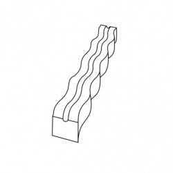 MOLDE PVC TURRÓN TU522 250x35x25mm