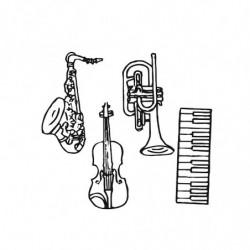 M. PVC INSTRUMENTOS MUSICALES (4i) 100x40x15mm