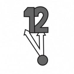 M. PVC AGUJAS RELOJ 12H 78x37x8mm (3i)