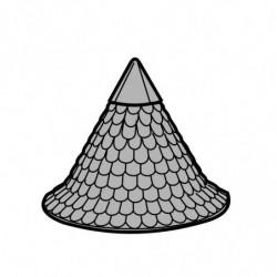 M. PVC CUPULA d.140/150x110 CASTILLO GIG. 1i 2m