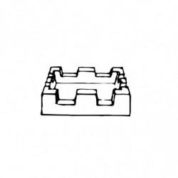 M. PVC ALMENA 74X74X19 CUADRADA GR. (2i)