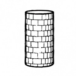 M. PVC TORRE REDONDA d.100x180mm (1i)