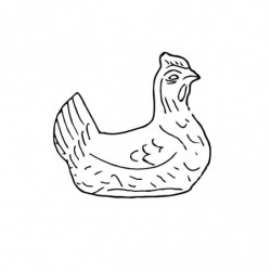 M. PVC GALLINA PONEDORA 60X45mm (MD)