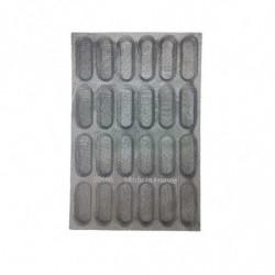 MOLDE FIBRA 24 PAN DE LECHE 130x48x18mm