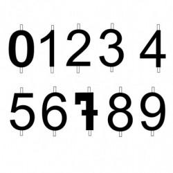 M.PVC  NUM. 1-2-3-4-5-6-7-8-9-0 VELA 6 CM (2+2i)