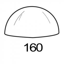 MOLDE PVC SEMIESFERA D160mm 1ud