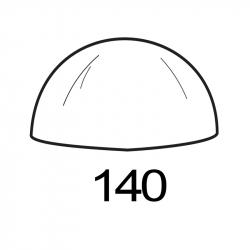 MOLDE PVC SEMIESFERA D140mm 1ud