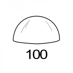 MOLDE PVC SEMIESFERA D100mm 1ud