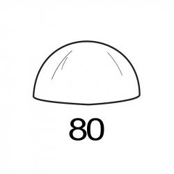 MOLDE PVC SEMIESFERA D80mm 1ud