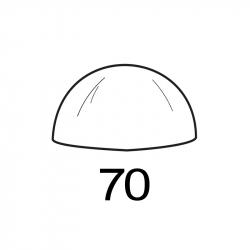 MOLDE PVC SEMIESFERA D70mm 2ud