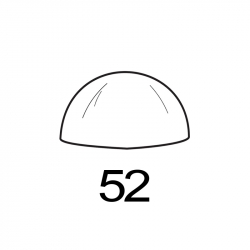MOLDE PVC SEMIESFERA D52mm 2ud
