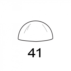 MOLDE PVC SEMIESFERA D41mm 6ud