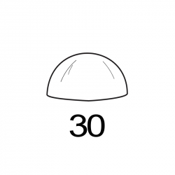 MOLDE PVC SEMIESFERA D30mm 8ud