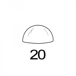 MOLDE PVC SEMIESFERA D20mm 15ud