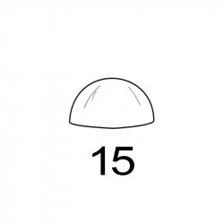 MOLDE PVC SEMIESFERA D15mm 24ud