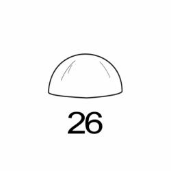 M. PVC SEMIESFERA D26 (i)