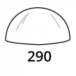 MOLDE PVC SEMIESFERA D290mm 1u