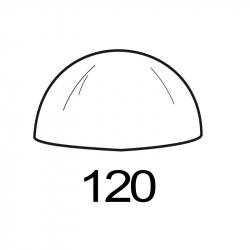 MOLDE PVC SEMIESFERA D120mm 1ud