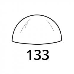 MOLDE PVC SEMIESFERA D133mm 1ud