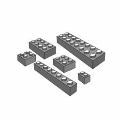 M. PVC FICHAS TENTE 105x25x10mm