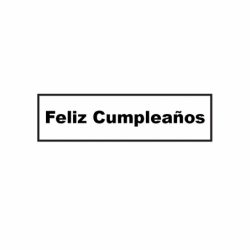 M. PVC FELIZ CUMPLEAÑOS 105x26x4 (8i)