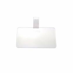 LENGÜETA RECTANGULAR 10x5.5cm PLASTICO TRANS(100u)